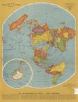 Rand McNally polar map of the world 1943 side 1