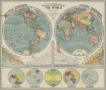 Ocean current map of the world by Cram 1947