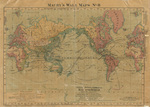 Political, physical & commerical map of the World 1872
