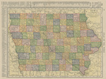Iowa and Minnesota pages from Atlas of the World 1908