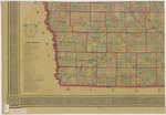 Asher & Adams civil & congressional township map Iowa 1870 sheet 3