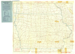 Hammonds auto route distance map Iowa 1925 side 1