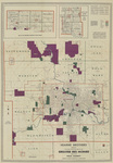 Hearne Bros. polyconic projection map of greater Des Moines 1945 side 1