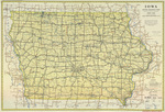 Iowa state highway map 1934 side 1