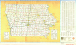 Iowa transportation map 1982 side 1