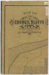 Map of the City of Council Bluffs 1885 by C. R. Allen sheet 1