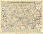 Official Conoco road map of Iowa 1936 side 1