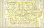 Official highway map of Iowa 1950 side 1