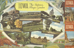 Official highway map of Iowa 1950 side 2