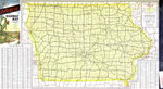 Official highway map of Iowa 1955 side 1
