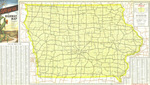 Official highway map of Iowa 1956 side 1