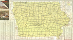 Official highway map of Iowa 1957 side 1