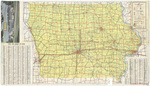 Official highway map of Iowa 1970 side 1