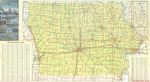 Official highway map of Iowa 1971 side 1