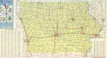 Official highway map of Iowa 1975 side 1
