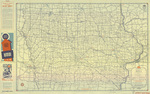 Official road map of Iowa 1941 side 1