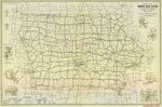 Official road map of Iowa 1942 side 1