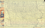 Official road map of Iowa 1944 side 1