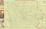Official road map of Iowa 1945 side 1