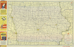 Official road map of Iowa 1946 side 1