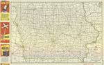 Official road map of Iowa 1947 side 1