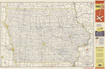 Official road map of Iowa 1953 side 1