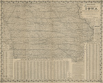 Coltons official state map of Iowa 1874