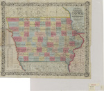 Coltons township map of the State of Iowa 1853