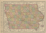 Iowa by Rand McNally 1895