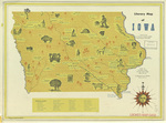 Literary map of Iowa 1952