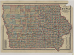 Lloyds new map of the State of Iowa 1874
