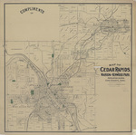 Map of Cedar Rapids, Marion and Kenwood Park 1892