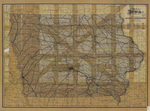 Map of Iowa 1904 prepared & printed for the railroad commissioners