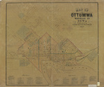 Map of Ottumwa Wapello Co. by Harrison & Warner 1870