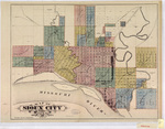 Map of Sioux City c.1884 Geo. M. Pardoe