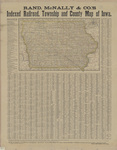 Rand McNally & Co. indexed railroad, township & county map of Iowa 1878