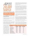 Salary Survey, Summer 2009 by National Association of Colleges and Employers