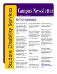 Student Disability Services Campus Newsletter, Fall 2015 by University of Northern Iowa. Office of Student Disability Services.