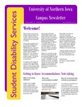 Student Disability Services Campus Newsletter, October 2011 by University of Northern Iowa. Office of Student Disability Services.