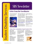 Student Disability Services Campus Newsletter, December 2011 by University of Northern Iowa. Office of Student Disability Services.