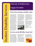 Student Disability Services Campus Newsletter, October 2012 by University of Northern Iowa. Office of Student Disability Services.