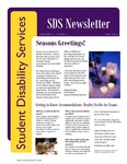 Student Disability Services Campus Newsletter, December 2012 by University of Northern Iowa. Office of Student Disability Services.