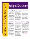 Student Disability Services Campus Newsletter, March 2013