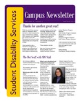 Student Disability Services Campus Newsletter, Spring 2014 by University of Northern Iowa. Office of Student Disability Services.
