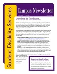 Student Disability Services Campus Newsletter, Fall 2014