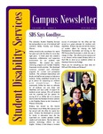 Student Disability Services Campus Newsletter, Spring 2016