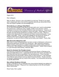 Student Affairs Newsletter, August 2012 by University of Northern Iowa. Division of Student Affairs.
