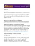 Student Affairs Newsletter, August 2013