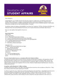 Student Affairs Newsletter, August 2015 by University of Northern Iowa. Division of Student Affairs.