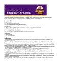 Student Affairs Newsletter, December 2015